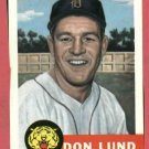 1953 Topps Archives Don Lund Detroit Tigers 1991