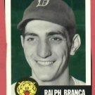 1953 Topps Archives Ralph Branca Detroit Tigers 1991