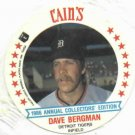 1986 Cains MSA Disc Dave Bergman Detroit Tigers ODDBALL Unopened