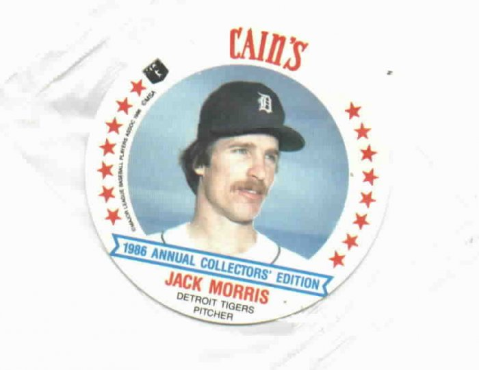 1986 Cains MSA Disc Jack Morris Detroit Tigers ODDBALL Unopened