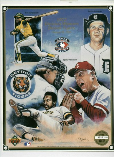 1992 Upper Deck Limited Edition Heroes. Detroit Tigers 1972 Division Winners