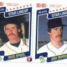 1987 M&M Panel Wade Boggs & Jack Morris Detroit Tigers Oddball