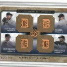 2008 Upper Deck Piece Of History Verlander Zumaya Bonderman Willis Detroit Tigers #d 465/799