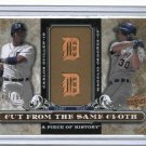 2008 Upper Deck Piece Of History Carlos Guillen Magglio Ordonez Detroit Tigers #D 643/799