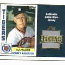 2005 Topps Archives Sparky Anderson Jersey Detroit Tigers 1984
