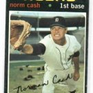1971 Topps Norm Cash # 599 Detroit Tigers