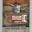 2003 Fleer Authentix Ticket To The Majors Jeremy Bonderman Detroit Tigers #d 1250