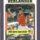 2005 Topps Updates & Highlights Justin Verlander Detroit Tigers ROOKIE