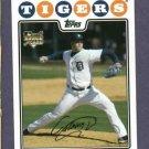 2008 Topps Update Armando Galarraga Detroit Tigers ROOKIE