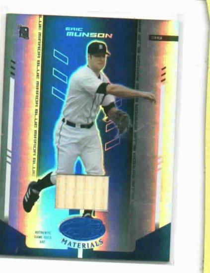 2004 Leaf Certified Eric Munson Bat Card Detroit Tigers / 100