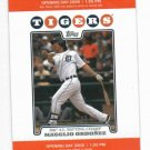 2008 Detroit Tigers Opening Day Ticket Stub Ordonez