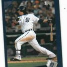 2009 Detroit Tigers Pocket Schedule Magglio Ordonez Topps