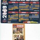 2009 Toledo Mud Hens Magnet Schedule & Bonus SGA