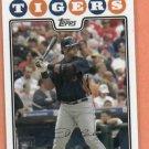 2008 Topps Detroit Tigers Team Card Miguel Cabrera