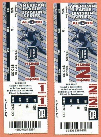 2006 ALDS Tickets Detroit Tigers VS Yankees Pair