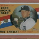 2009 Topps Heritage Chris Lambert ROOKIE Detroit Tigers