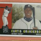 2009 Topps Heritage Curtis Granderson Detroit Tigers