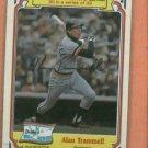 1984 Drakes Big Hitters Alan Trammell Detroit Tigers
