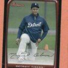 2008  Bowman Miguel Cabrera Detroit Tigers