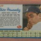 1962 Post Chico Fernandez Detroit Tigers