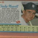 1962 Post Charley Maxwell # 25 Detroit Tigers