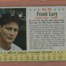 1963 Post Frank Lary # 55 Detroit Tigers