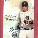 1998 Best Card Certified Autograph Bubba Trammell Detroit Tigers