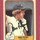 1981 Fleer Dan Petry Autograph Detroit Tigers Auto