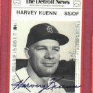 1981 Detroit News Harvey Kuenn Autograph Detroit Tigers Auto Card