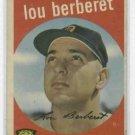 1959 Topps Lou Berberet Detroit Tigers # 96 Nice !!!! White Back