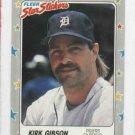 1988 Fleer Star Sticker Kirk Gibson Detroit Tigers Baseball Card