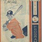 1970 Toledo Mud Hens Program Scorebook Autographed by Al Kaline & Bob Feller On Cover Detroit Tigers
