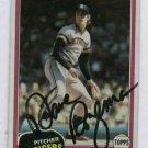 1981 Topps Dave Rozema Detroit Tigers Autograph Baseball Card Auto