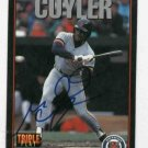 1993 Triple Play Milt Cuyler Detroit Tigers Autographed Baseball Card Auto