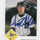 2003 Fleer Tradition Andy Van Hekken Detroit Tigers Autograph Baseball Card Auto