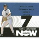 2007 Topps Generation Now Justin Verlander Detroit Tigers Baseball Card 17 Wins Win # 7