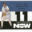 2007 Topps Generation Now Justin Verlander Detroit Tigers Baseball Card 17 Wins Win # 11