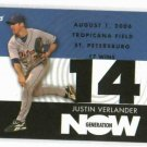 2007 Topps Generation Now Justin Verlander Detroit Tigers Baseball Card 17 Wins Win # 14