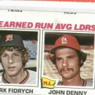 1977 Topps Leaders Mark Fidrych BLANK BACK Detroit Tigers Baseball Card Oddball RARE 1/1?