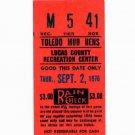 1976 Toledo Mud Hens Ticket Stub Mudhens