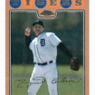 2008 Topps Chrome Gold Miguel Cabrera Detroit Tigers Baseball Card #D 398/599