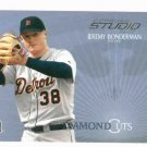 2005 Donruss Studio Diamond Cuts Jeremy Bonderman Detroit Tigers Baseball Card #D 158/1250