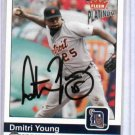 2004 Fleer Platinum Dmitri Young Detroit Tigers Autographed Baseball Card Auto