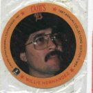 1987 Cains MSA Disc Willie Hernandez Detroit Tigers Unopened Oddball