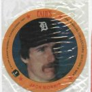 1987 Cains MSA Disc Jack Morris Detroit Tigers Oddball Unopened