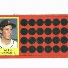 1981 Topps Scratch Off Alan Trammell Detroit Tigers Baseball Card Oddball