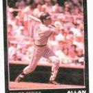 1989 ? Star Silver Series Alan Trammell Promo Error Detroit Tigers Baseball Card Blank Back