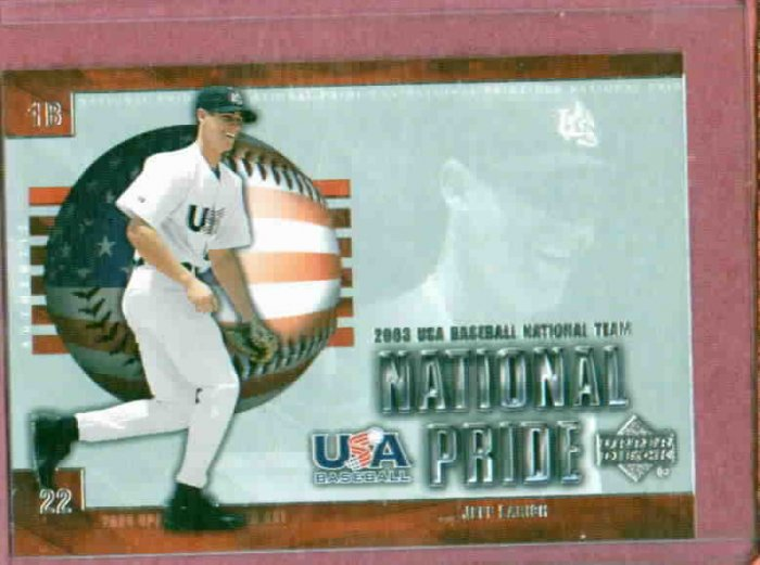 2003 Upper Deck USA Jeff Larrish Detroit Tigers Baseball Card Rookie