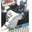 1995 Kraft Superstars Cecil Fielder Detroit Tigers Baseball Card Oddball
