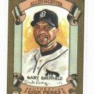 2007 Topps Allen & Gitner Gary Sheffield Detroit Tigers Sketch Baseball Card